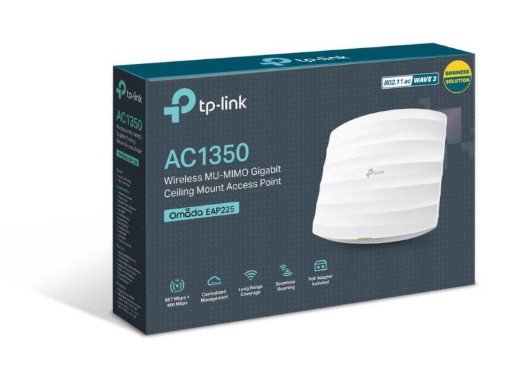 TP-Link EAP225 Гигабитная двухдиапазонная точка доступа Wi-Fi